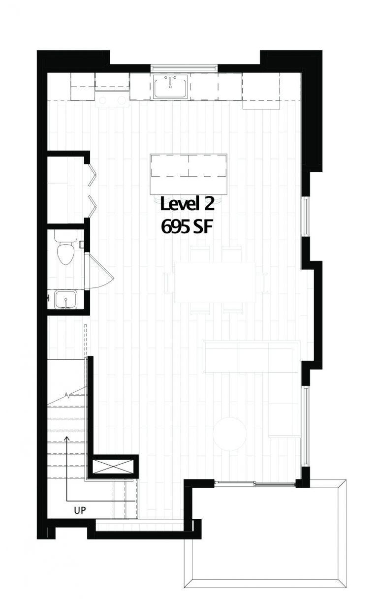 Maven Townhomes, Unit A Level 2